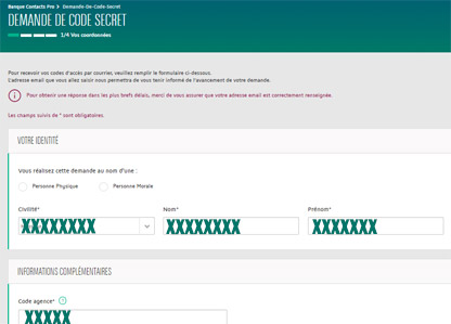 code acces oublie bnp pro