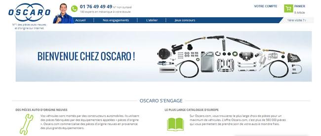 accès au site oscaro pro