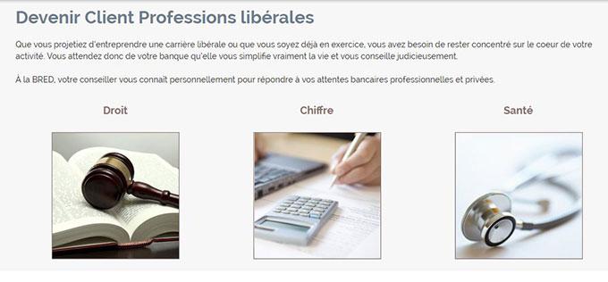 compte bred profession libérale