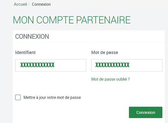 connexion compte partenaire cafpro