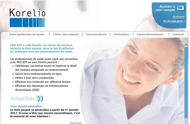 Korelio pro btp professionnel de santé