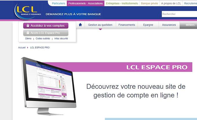 LCL banque pro en ligne