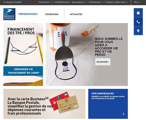offre bancaire pro banque postale