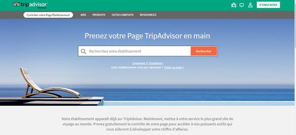 se connecter au compte Tripadvisor pro