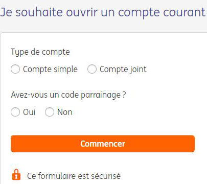 type compte courant ing direct