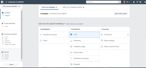 créer compte publicitaire facebook