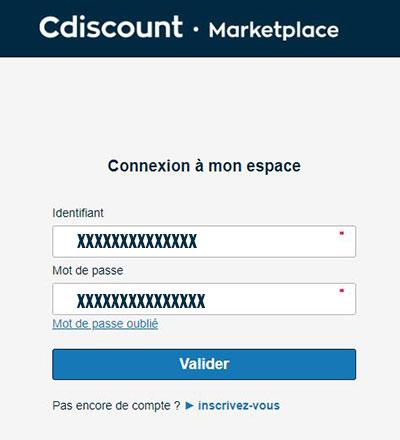 espace professionnel marketplace pro cdiscount