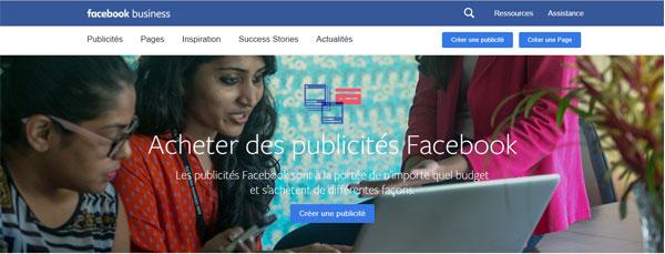 accès au site Facebook Manager
