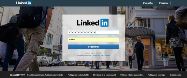 se connecter au compte Linked In