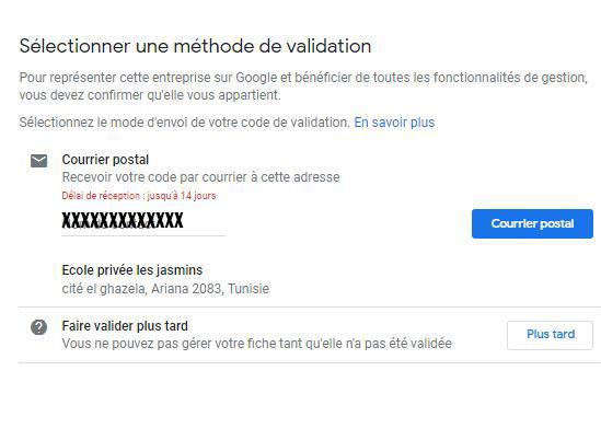 validation fiche google my business