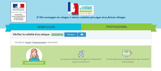 verification cheque energie en ligne