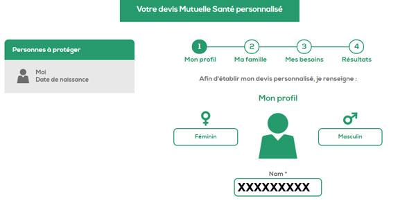 Ma nouvelle mutuelle : Obtenir un devis en ligne
