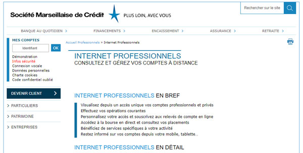 SMC mon espace professionnel en ligne