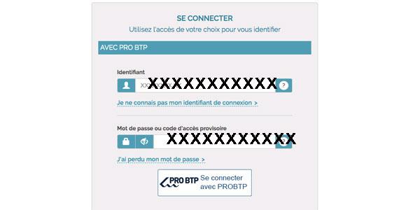 Pro BTP connexion