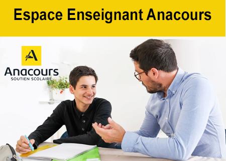 Accès Anacours espace enseignant