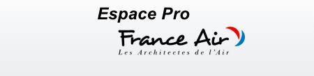 Inscription et accès à l'espace pro France Air.